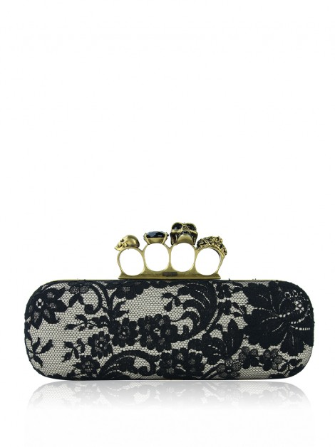 Clutch Alexander McQueen Renda Knuckle Duster