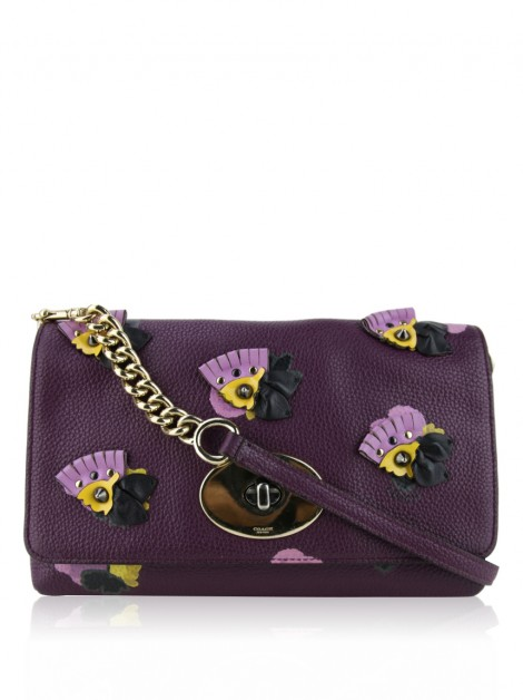 Clutch Coach Crosstown Floral Roxo