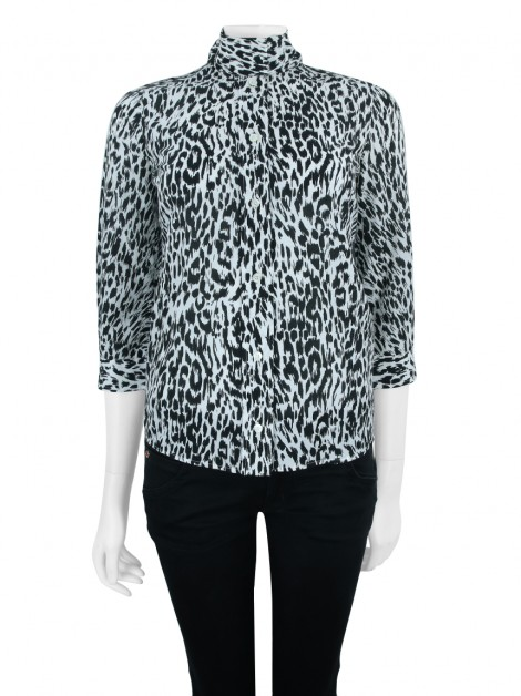 Camisa Gucci Animal Print P&B