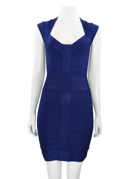 Vestido French Connection Bandage Azul