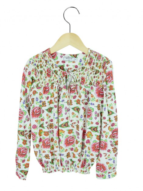Blusa Mixed Kids Floral Off White