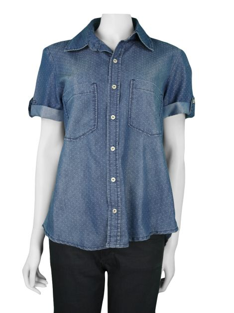 Camisa Mixed Denim Bolinhas