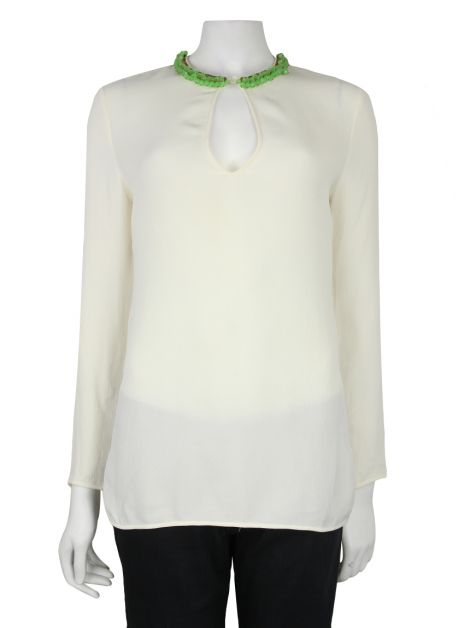 Blusa Gucci Off-White Bordado