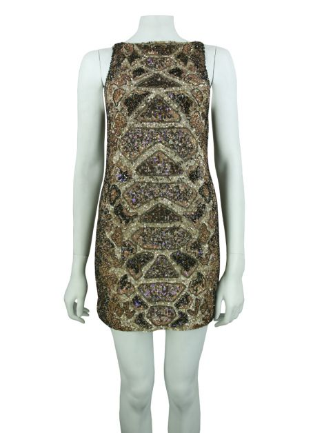 Vestido All Saints Spitalfields Bordado Bege
