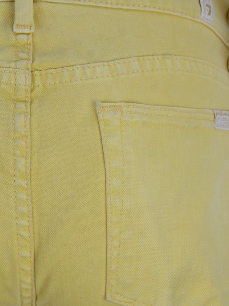 Calça Seven For All Mankind Slim Straight Amarelo