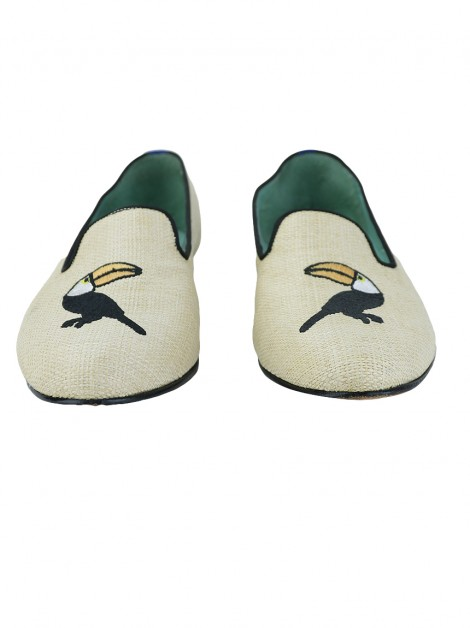 Loafer Blue Bird Palha Bege