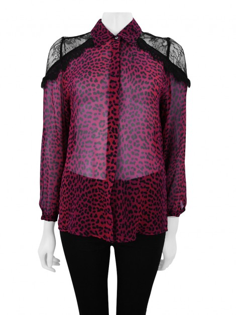 Camisa Animale Seda Animal Print