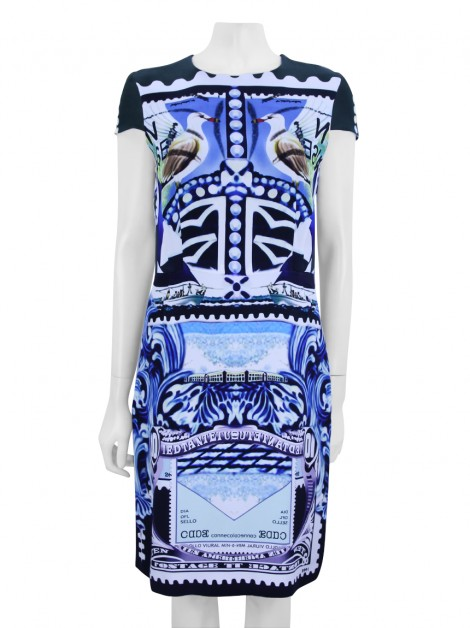 Vestido Mary Katrantzou India-Bird Estampa