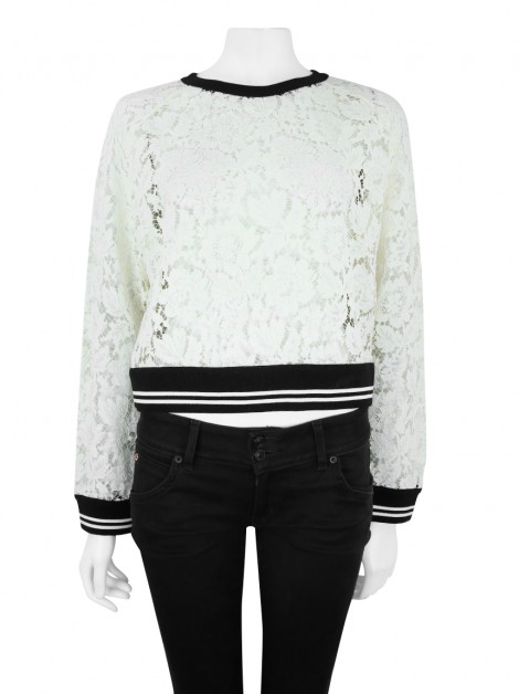 Blusa Valentino Renda Off White