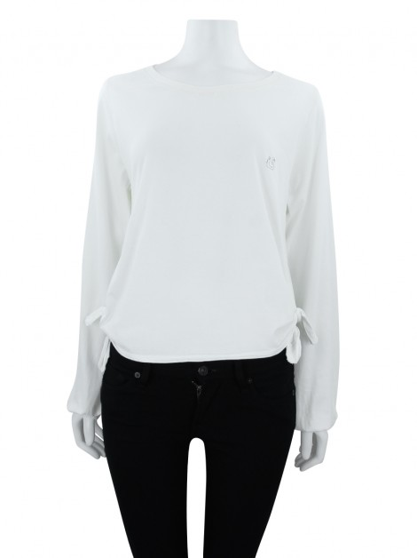 Blusa Cris Barros Cisne Off White