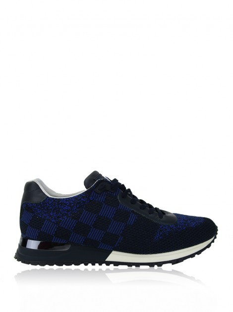 Tênis Louis Vuitton Run Away Damier Blue Pacifique