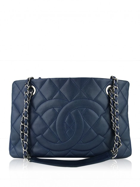 Bolsa Chanel Timeless CC Shopping Tote Azul