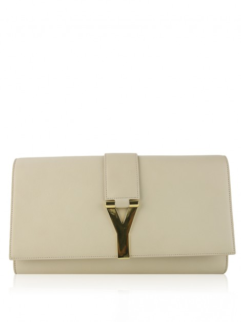 Clutch Yves Saint Laurent Classic Y-Line Nude