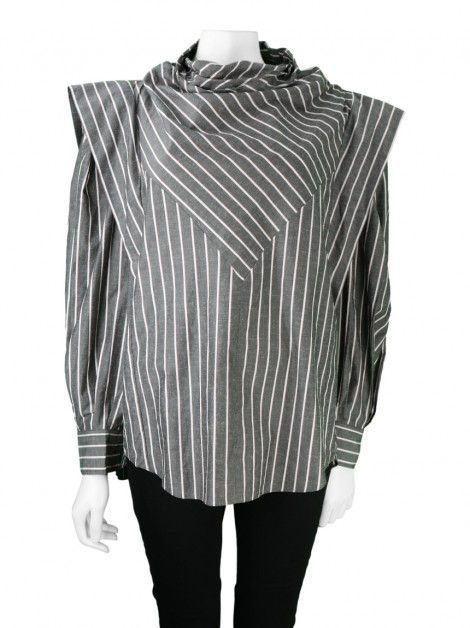 Blusa Isabel Marant Welly Listras Tricolor