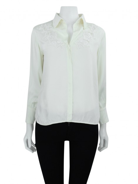 Camisa Le Lis Blanc Bordada Off White