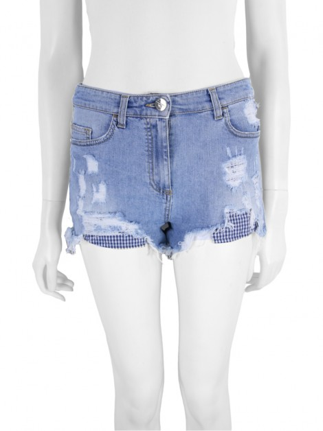 Shorts Elisabetta Franchi Jeans Destroyed