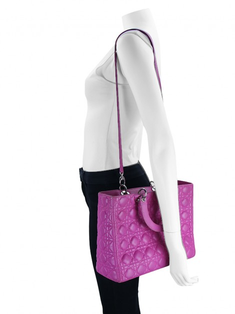 Bolsa Christian Dior Lady Dior Medium Pink