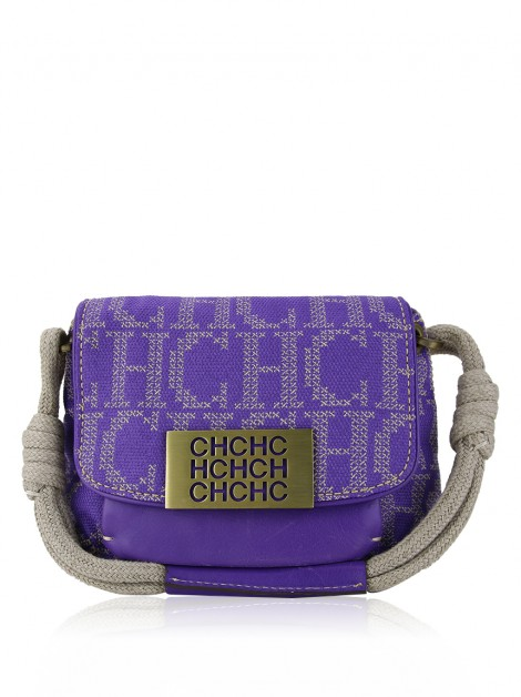 Bolsa Carolina Herrera Canvas Roxo