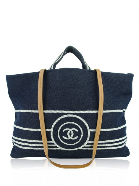 Bolsa Chanel Denim Shopping Tote