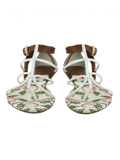 Sandália Flat Louis Vuitton Canvas Floral