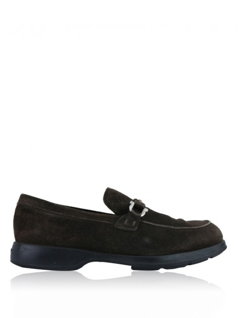 Loafer Salvatore Ferragamo Gancini Marrom