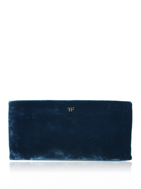 Clutch Tom Ford Veludo Azul