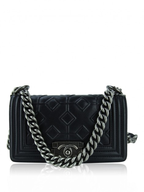 Bolsa Chanel Boy Arabesque Small Preto