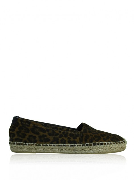 Espadrille Saint Laurent Paris Suede Leopardo
