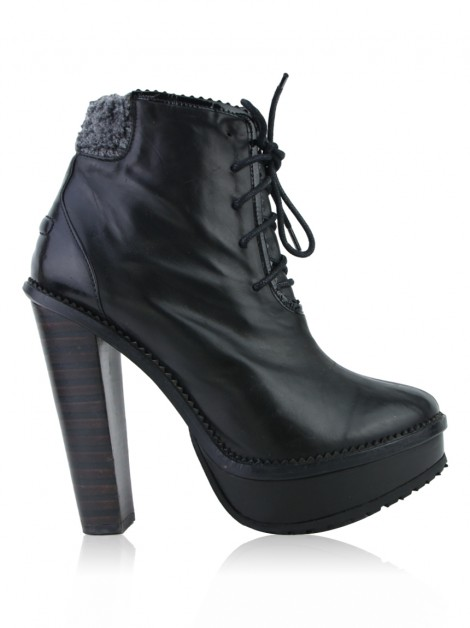Ankle Boot Opening Ceremony Couro Preto