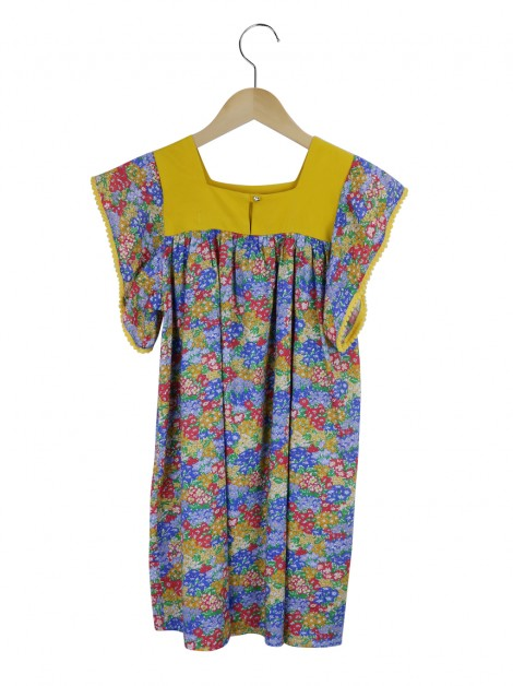Vestido Mixed Kids Estampa Floral Infantil
