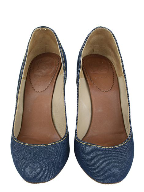 Anabela Christian Louboutin Espadrille Jeans