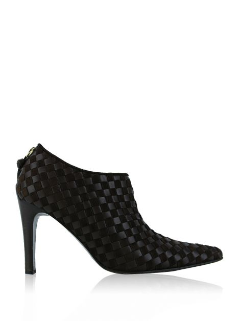 Ankle Boot Bottega Veneta Intrecciato Marrom