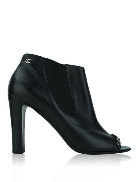 Ankle Boot Chanel CC Correntes Preta