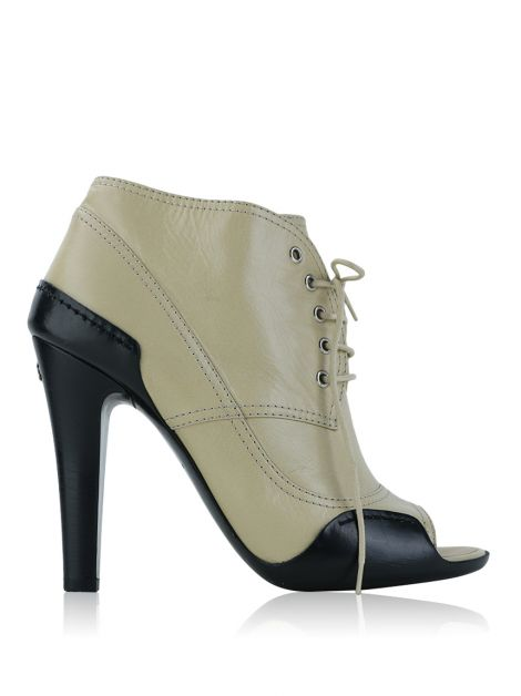 Ankle Boot Chanel Couro Bicolor
