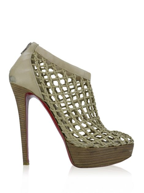 Ankle Boot Christian Louboutin Coussin Bege