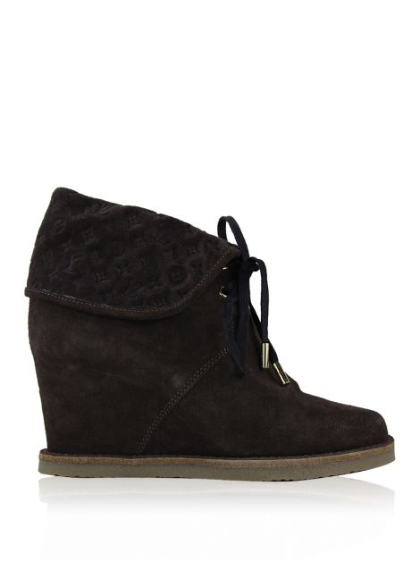Ankle Boot Louis Vuitton Fauvist Low Marrom