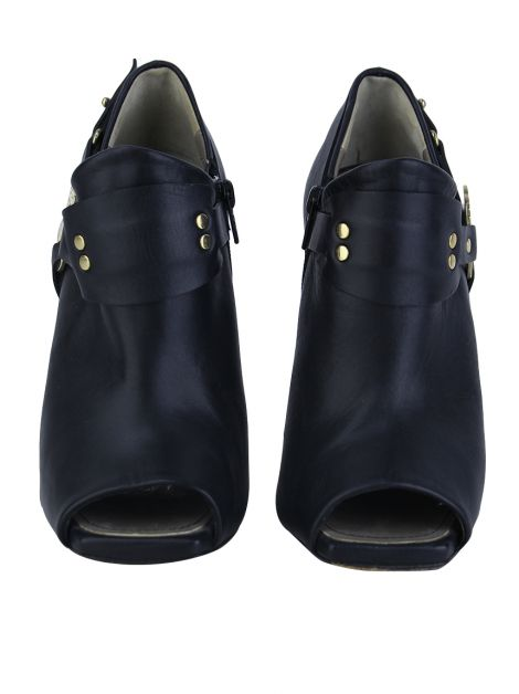 Ankle Boot Versace Collection Couro Preto