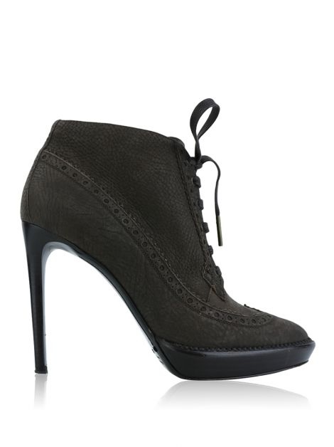 Ankle Boots Burberry Prorsum Couro Marrom