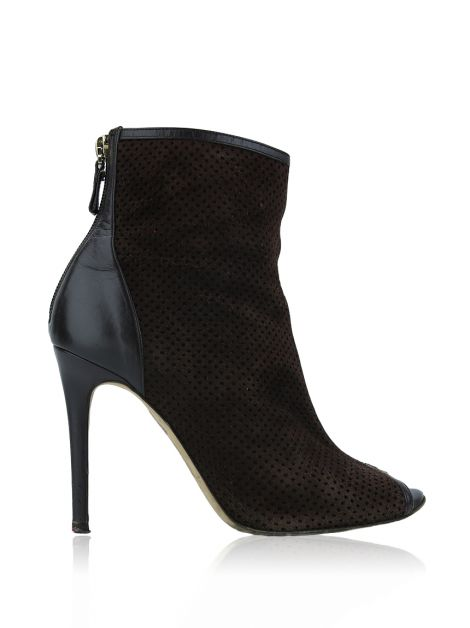 Ankle Boots Carolina Herrera Suede Marrom