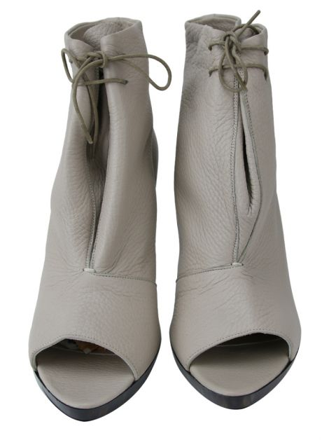 Anklee Boot Burberry Couro Nude