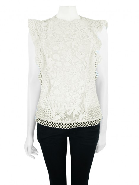 Blusa Ted Baker Zania Off White