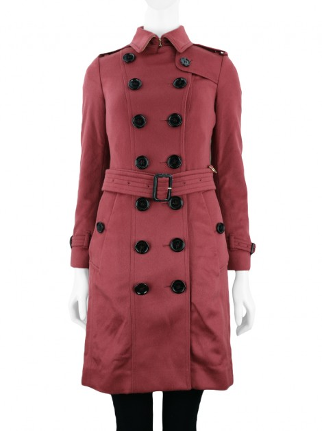 Trench Coat Burberry Cashmere Bordô