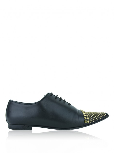 Oxford Gucci Studded Preto