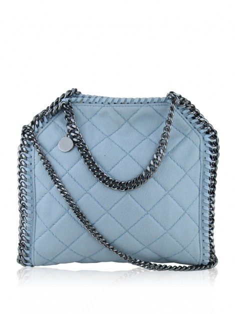 Bolsa Stella McCartney Mini Falabella Quilted Azul