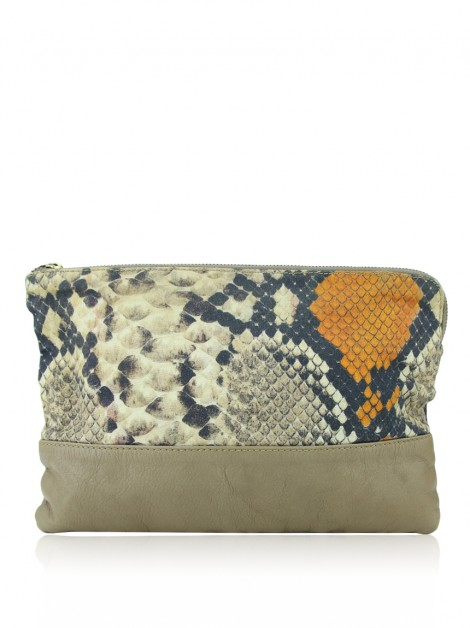 Clutch Daslu Tecido Animal Print