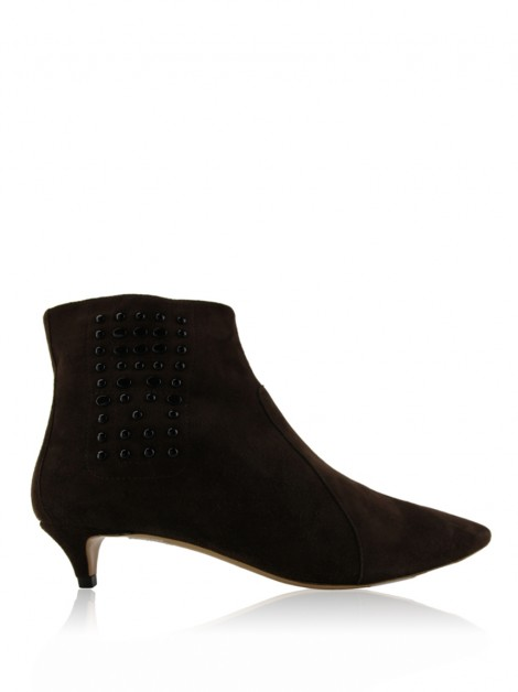 Ankle Boots Tod's Suede Marrom
