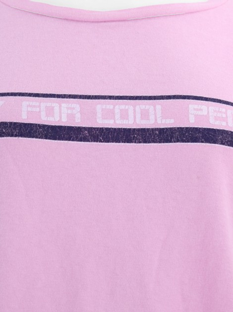 Blusa Rosa Chá Cropped Cool People Rosa