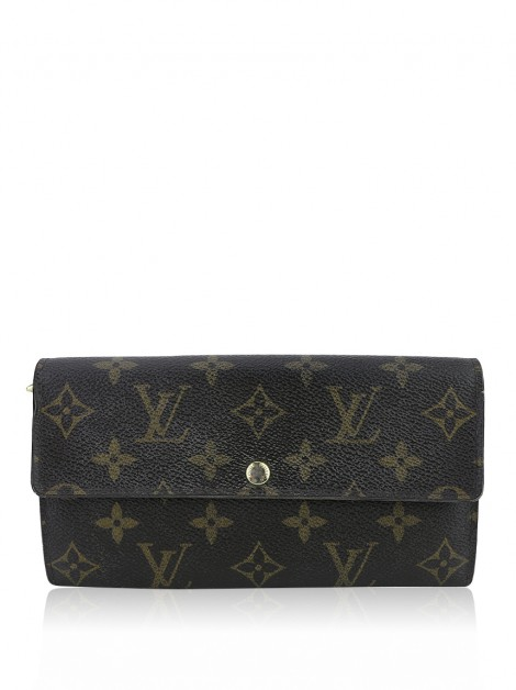 Carteira Louis Vuitton Monogram Fleuri Sarah