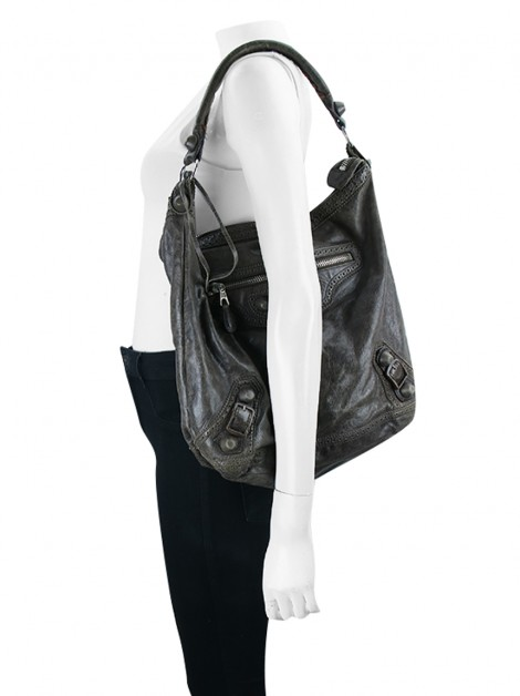 Bolsa Balenciaga Covered Brogues Day Hobo