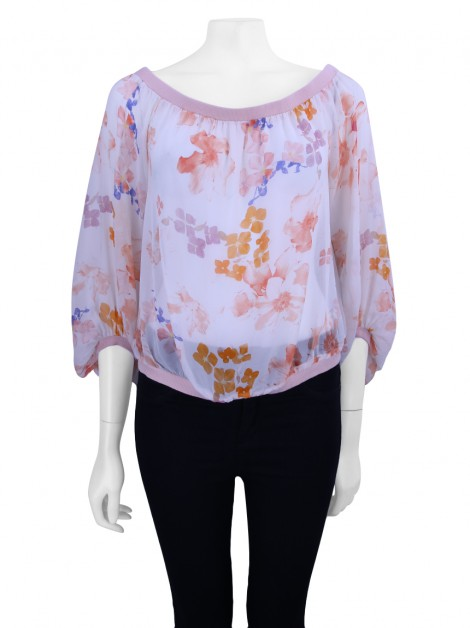 Blusa Seven For All Mankind Seda Estampada